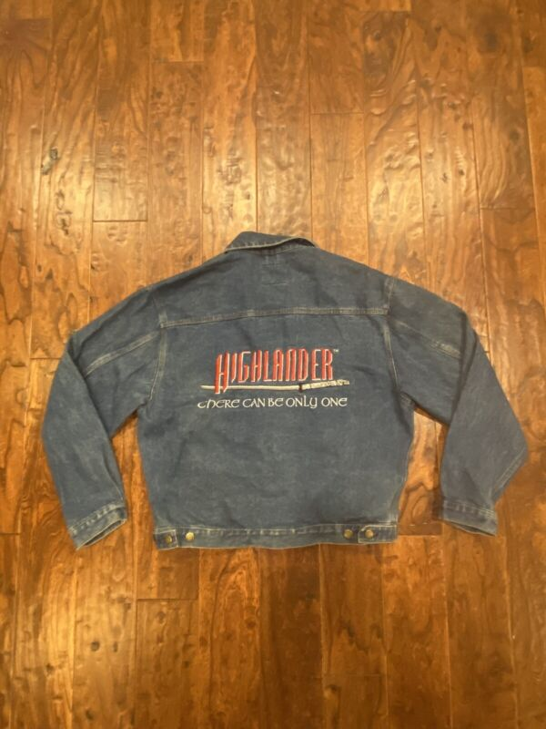 80s Vintage Highlander The Movie Denim Jacket Size M There Can Be Only One
