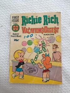 RICHIE RICH VACATIONS DIGEST FIRST ISSUE HARVEY WORLD GLORIA CADBURY Panorama Mitcham Area Preview