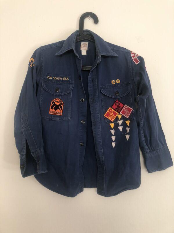 Vintage 1950 Boy Scouts of America, Cub Scouts, BSA button up uniform