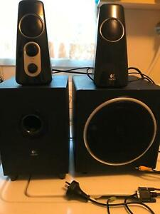 Logitech Speakers x 4