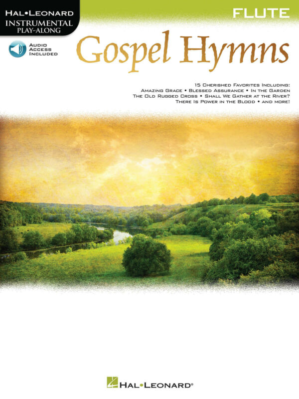 Gospel Hymns for Flute Solo Sheet Music 15 Christian Songs Play-Along Book Audio