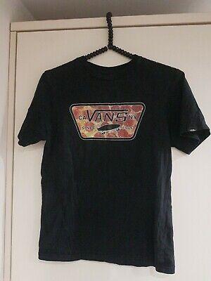 "Boys X3 North Face/Vans T-shirts Size M/YL C34"" Black Vgc"