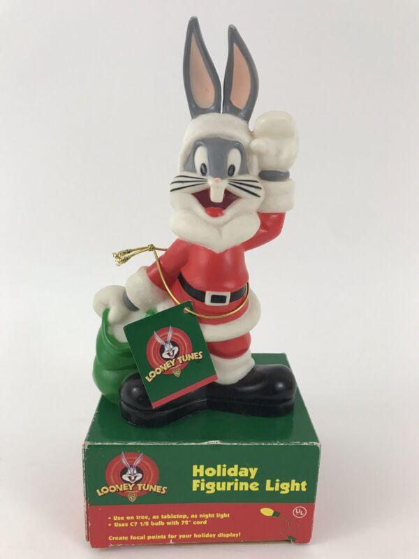 Vintage Looney Tunes Warner Bro. Bugs Bunny Santa Claus Holiday Figurine Light