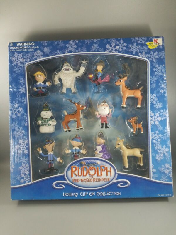 Rudolph The Red Nosed Reindeer Holiday Clip On Ornament Set 12 Pack Memory Lane