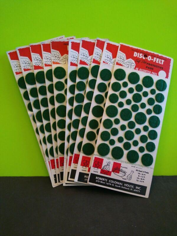 Vintage 10 Count Lot of Disc-o-felt Self Stick Protective Pads