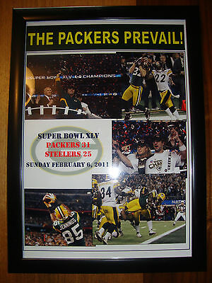 Green Bay Packers 31 Pittsburgh Steelers 25 - 2011 Super Bowl - framed print