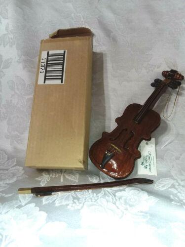 Home Interiors Violin/Bow Ornament/Musical Instrument/Miniature Wood/Metal/NIB