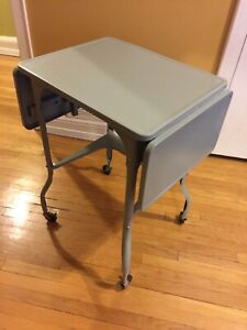 MCM small metal folding table