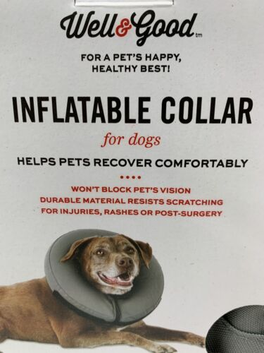 Well & Good INFLATABLE COLLAR for DOGS sizes MEDIUM or XXL/X