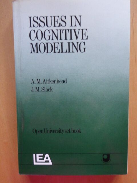 Issues In Cognitive Modelling (Open University) Very Good Condition