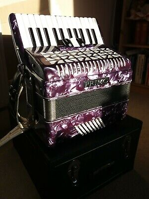 Primo Piano Accordion 48 Bass Italian Made With Hard Case