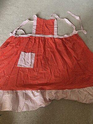 Vintage Red Polkadot St Michael's Apron - Cotton