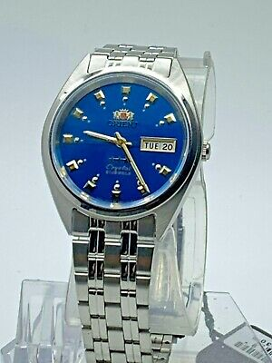 Genuine  Orient Men's  Automatic Silver Watch W/ Box  FAB00009L