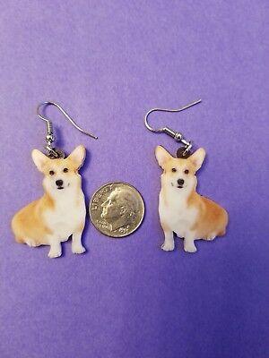 Welsh Corgi Earrings (Pembroke Welsh Corgi Dog fun earrings  jewelry FREE SHIPPING! Design 2 of)