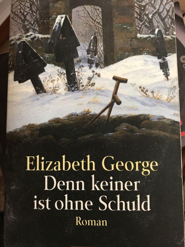 Denn keiner ist ohne Schuld von Elizabeth George (1996, Taschenbuch)