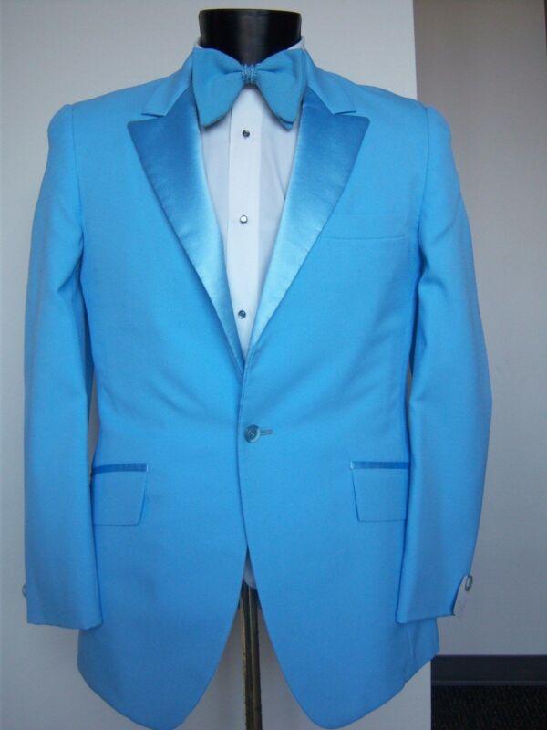 Vintage Baby Blue Tuxedo Jacket -Dumb & Dumber style