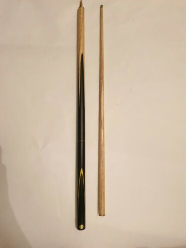 Buffalo Snooker Cue With a 12mm Tip Black With Yellow Waves Used good condition