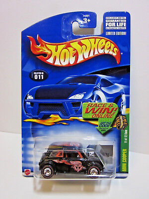 2002 Hot Wheels   Treasure Hunt   Black Mini Cooper With Real Riders    11 Of 12