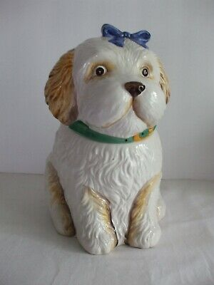 Vintage DOG TREAT  / COOKIE Jar Dog Shape CBK Ltd. 1992
