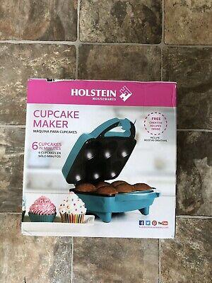 Holstein Housewares HF-09013T Cupcake Maker Teal Blue/Stainless SteelNew