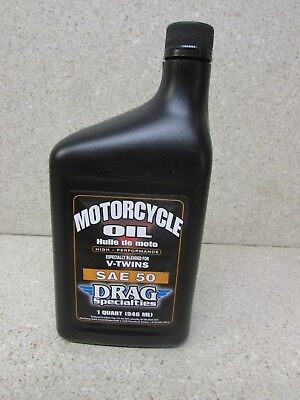 DRAG SPECIALTIES V-TWIN SAE50 50W MOTORCYCLE ENGINE OIL 1 QT   for sale  Walkertown