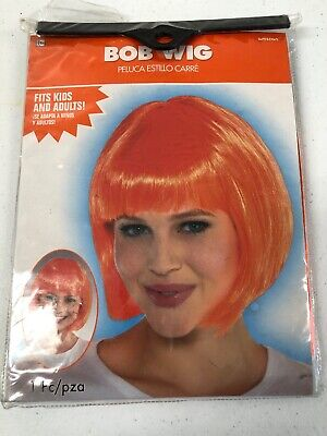 Birthday Costumes For Adults (ORANGE BOB WIG for ADULTS or KIDS ~ Birthday Party Supplies Halloween)