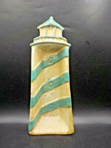 Tom Chamberlain Stoneware Lighthouse Serving Dish Beach Nautical Pottery Bowl