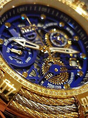 Invicta Reserve 18k Gold Plated Bolt Zeus Tri-Cable Swiss Mvmt Diamond Watch