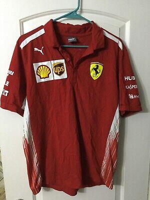 Puma Ferrari Shell Scuderia UPS Team Formula 1 Polo Shirt Size Large NWT