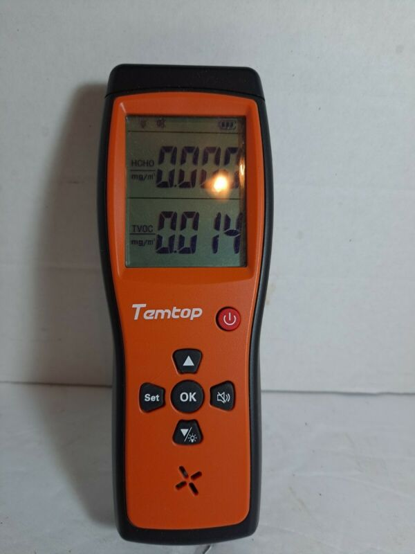 Temtop H2 Air Quality Detector Tester  Monitor LCD Screen Audio Alarm