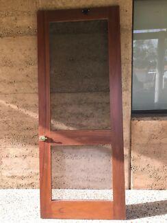 Jarrah framed flyscreen door
