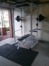 POWER RACK + 100KG OLYMPIC WEIGHT SET + FLAT/INCLINE BENCH Seven Hills Blacktown Area Preview