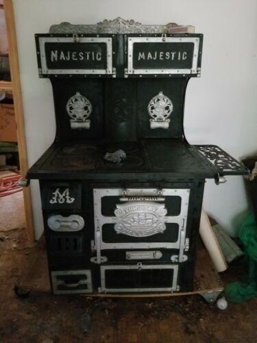 Vintage Antique Cast Iron Stove (The Great Majestic )