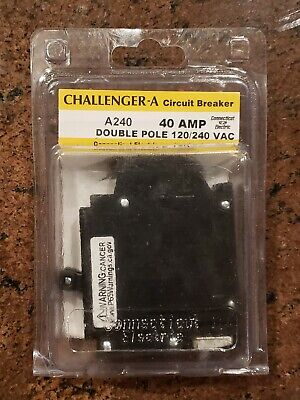 Commercial Electric Ubitba240 A-240 Challenger Two Pole 40 Amp Circuit Breaker