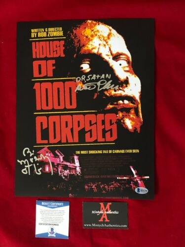 BILL MOSELEY & WALTER PHELAN  SIGNED 11x14  PHOTO HOUSE OF 1000 CORPSES! BECKETT