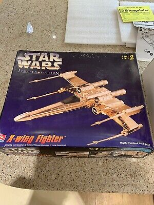 AMT Star Wars Limited Edition GOLD Tone X WING FIGHTER (Auction)