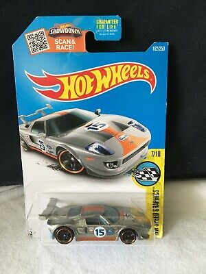 2015 Mattel Hot Wheels Gulf Ford GT HW Speed Graphics 7/10 NEW ON CARD