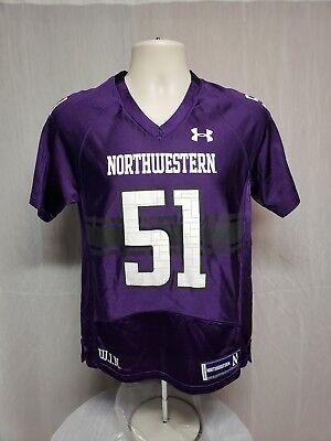 - Under Armour Northwestern University Wildcats #51 YMD Purple Football Jersey
