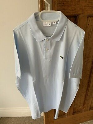 Mint Condition Authentic Lacoste Mens Polo Shirt - Size 9 (4XL) in Light Blue
