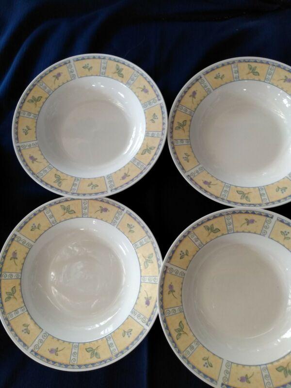 """Sango Papillon 8838 Salad/Soup Bowls Set Of 4 9"""" x 2""""  EUC"""