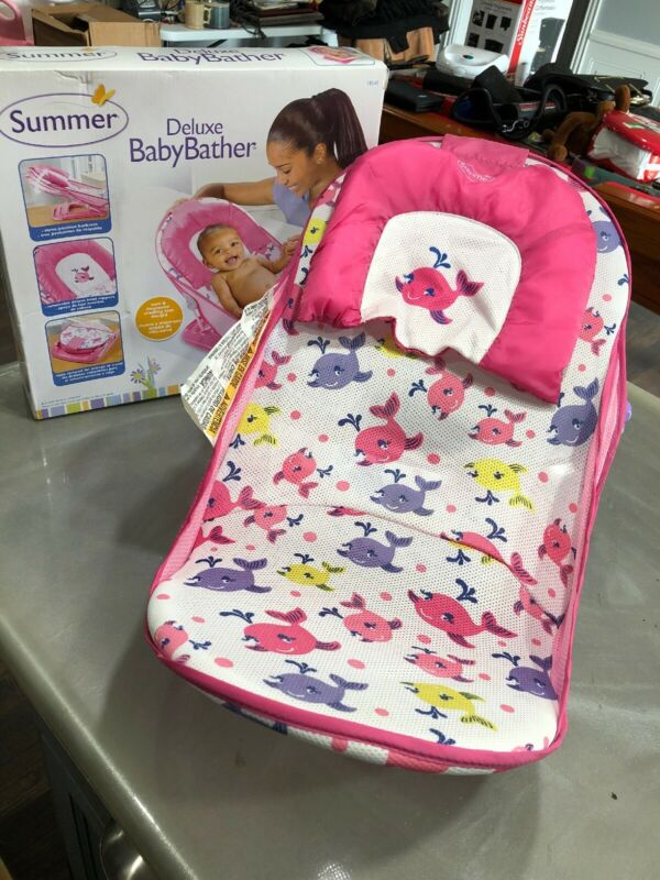 Deluxe Baby Bather Seat Chair Tub Summer Support Newborn Sink Bath Shower Stand