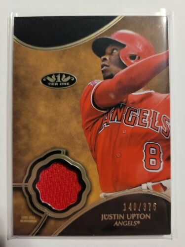 Justin Upton 2019 Topps Tier One Game Used JERSEY 140/375 Angels - $1.00