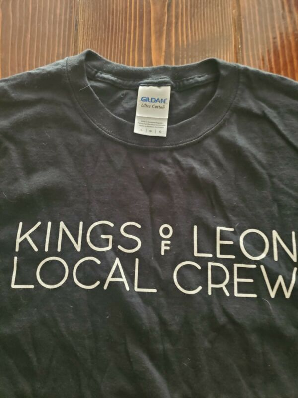 KINGS OF LEON LOCAL CREW CONCERT MENS LARGE T-SHIRT