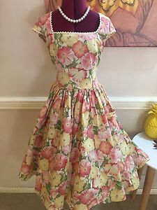 Pink and yellow custom made ducky bird design size 8-10 dress Paddington Brisbane North West Preview