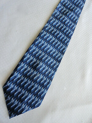 GEORGE handmade Tie Cheater Polyester Zipper Adjustable Blue Black front tie 20
