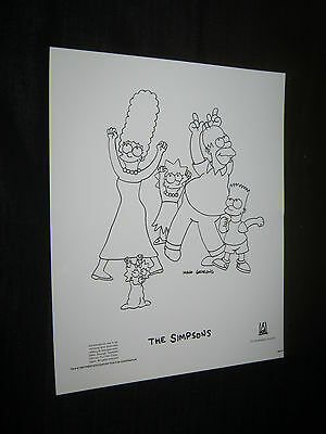 Original THE SIMPSONS  Periodical Press Kit Photo 8x10 #5