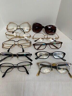 Vintage Eyeglasses Eyewear Frame Lot 10 Shuron, Dior, Silhouette, Madden & (Dior Eyewear Glasses)