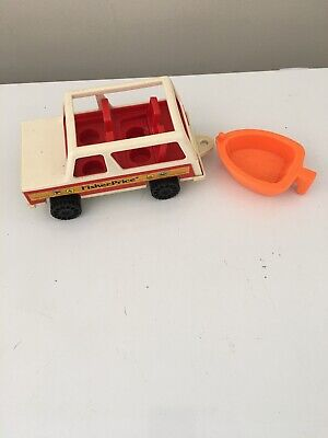 Vintage 1979 Fisher Price Jeep 992 Boat
