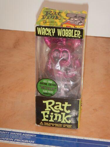 2005 FUNKO SPECIAL EDITION METALLIC RAT FINK WACKY WOBBLER BOBBLE HEAD, NOS