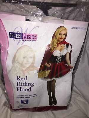 Adult Womens Secret Wishes Red Riding Hood Plus Size Costume 14-16   NEW